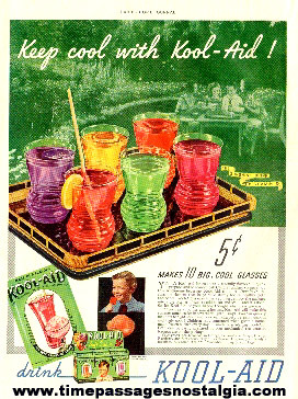 1937 Perkins Product Company Kool - Aid Drink Mix Color Advertisement