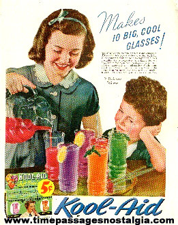 1939 Perkins Product Company Kool - Aid Drink Mix Color Advertisement