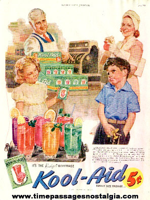 1942 Perkins Product Company Kool - Aid Drink Mix Color Advertisement