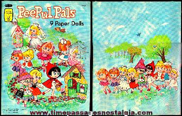 1967 PeePul Pals Character Paper Dolls Lot