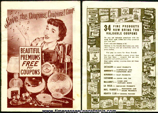 1950 Advertising Premium Catalog For Many Products