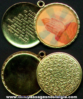 Old Religious Flicker Medallion Locket