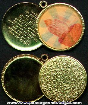Old Religious Flicker Medallion Locket