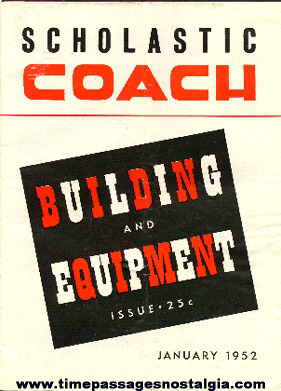 1952 Scholastic COACH Building And Equipment Sporting Trade Publication
