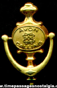 """AVON Calling"" Employee Door Knocker Pin"