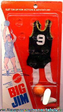 Unopened ©1973 BIG JIM Basketball Outfit By Mattel