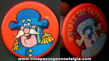 Cap'n Crunch Cereal Advertising Character Flicker Pin Back Button