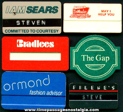 (6) Different Employee Advertising Pin Name Badges