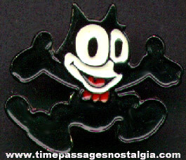 Felix The Cat Painted Metal Pin