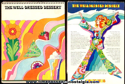 1969 Psychedelic Cool Whip ''The Well Dressed Dessert'' Easel Back Advertising Recipe Book