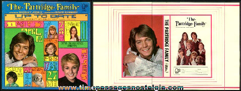 1970's Partridge Family Album With The Scarce Original Book Cover Insert
