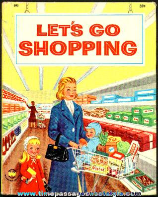 "©1958 ""Let's Go Shopping"" Wonder Book"