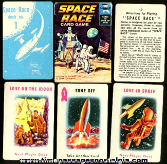 Old Boxed Space Race Card Game
