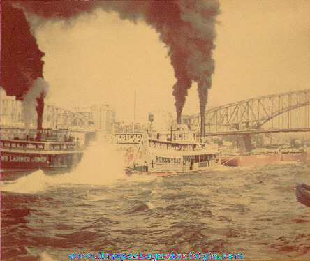 Original Old Steam Ship Race Photograph