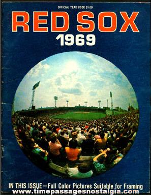 1969 Boston Red Sox Fenway Park Baseball Program