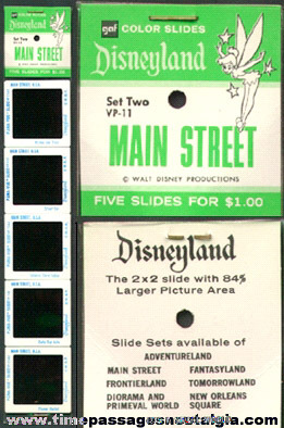 Unopened Disneyland GAF Color Slide Packet
