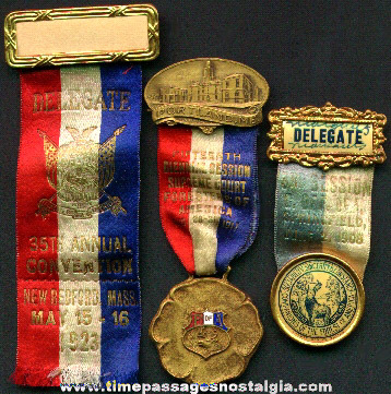 (3) Old Foresters Of America Fraternal Ribbons / Medals