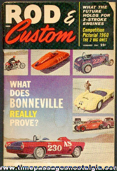 January 1961 Issue Of Rod & Custom Magazine