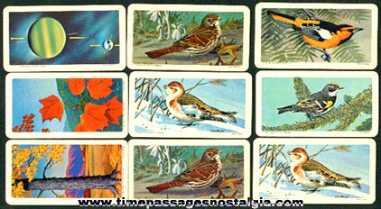(9) Brooke Bond Tea Company Premium Trading Cards
