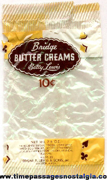 Old & Rare Betty Lewis Bridge Butter Creams 10c Candy Wrapper