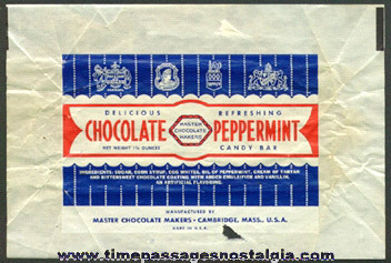 Old Master Chocolate Makers Chocolate Peppermint Candy Bar Wrapper
