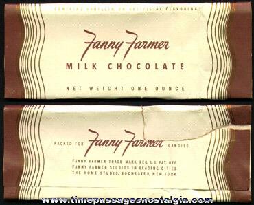 Old & Rare Fanny Farmer Milk Chocolate Candy Bar Wrapper
