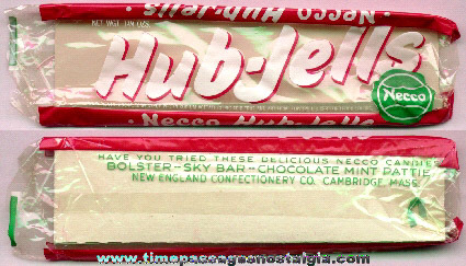 Old & Rare New England Confectionary Company (NECCO) Hub - Jells Candy Wrapper
