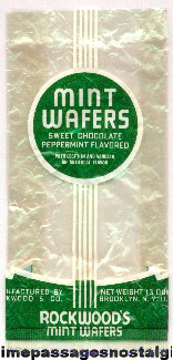 Old & Rare Rockwood Mint Wafers Candy Wrapper