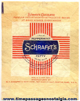 Old Schrafft's Peppermint Patty Candy Wrapper