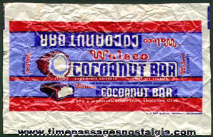 Old Waleco Chocolate Covered Cocoanut Candy Bar Wrapper
