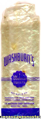 Old Washburn's Waleco Sweets Candy Bag / Wrapper