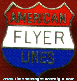 American Flyer Lines Enameled Shield Pin
