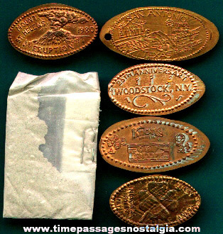 (5) Advertising Souvenir Elongated Pennies