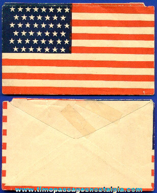 Old Printed (45) Star United States Flag Envelope
