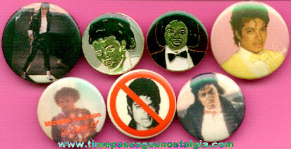 (7) Michael Jackson Pins & Pin Back Buttons