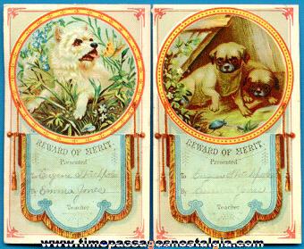 (2) Old Matching Reward Of Merit Cards