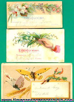 (3) Old Reward Of Merit Cards