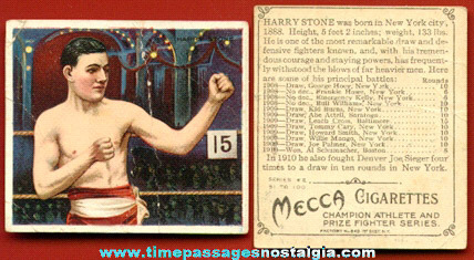 1900's Harry Stone Mecca Cigarettes Premium Boxing Trading Card