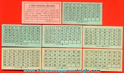 Cracker Jack Mind Reading Mystery Card Set Prize / Premium