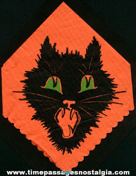 1939 Halloween Party Black Cat Paper Napkin