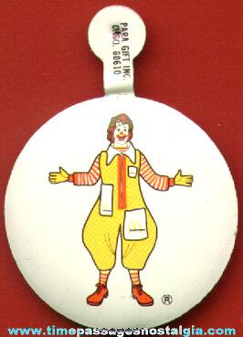 Old McDonald's / Ronald McDonald Tin Tab Advertising Button