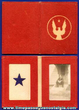 Old World War II Navy Sailor Photo In A Velvet Service Star Frame