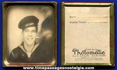 1942 WWII U.S. Navy Sailor Souvenir Mutoscope Photomatic Photograph