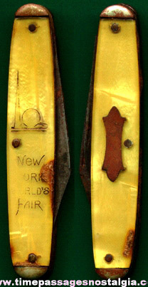 1939 - 1940 New York World's Fair Souvenir Pocket Knife