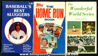 (3) Baseball Paperback Books