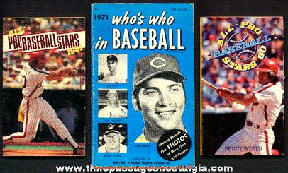 (3) Old Baseball Paperback Books