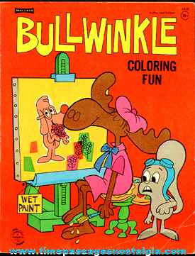 1960s Rocky & Bullwinkle Cartoon Character Coloring Book