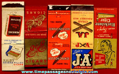 (5) Old Cigar Advertising Match Book Covers