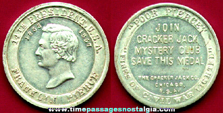 "1930's Cracker Jack Presidential ""Save This Medal"" Prize"