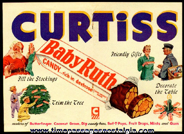 1948 Curtiss Candy - Baby Ruth Candy Bar Advertisement